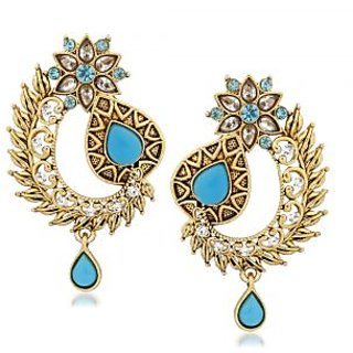 VK Jewels Graceful Gold Plated Alloy Drop Earring set for Women & Girls -ERZ1328G [VKERZ1328G]