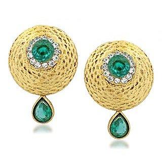 VK Jewels Decent Round Gold Plated Alloy Drop Earring set for Women & Girls -ERZ1329G [VKERZ1329G]