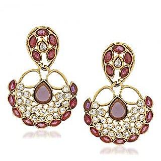 VK Jewels Pretty Gold Plated Alloy Drop Earring set for Women & Girls -ERZ1330G [VKERZ1330G]
