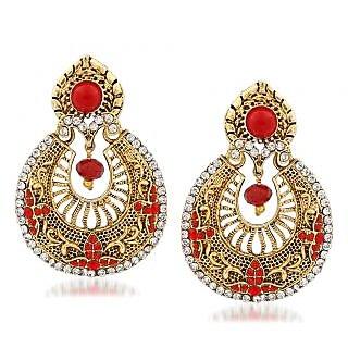 VK Jewels Excellent Gold Plated Alloy Chandbali Earring set for Women & Girls -ERZ1335G [VKERZ1335G]