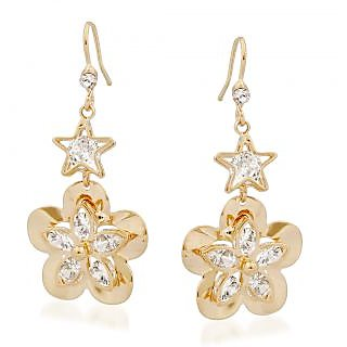 VK Jewels Estonia Flower Gold Plated Alloy Drop Earring set for Women & Girls -ERZ1336G [VKERZ1336G]