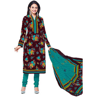 Sudev Multicoloured Cotton Dress Material