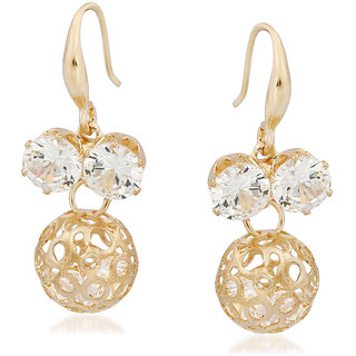 VK Jewels Stone in Circle Gold Plated Alloy Drop Earring set for Women & Girls -ERZ1337G [VKERZ1337G]
