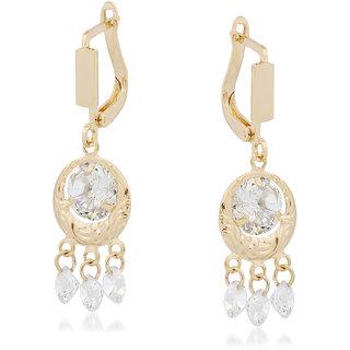 VK Jewels Drop Stones Gold Plated Alloy Drop Earring set for Women & Girls -ERZ1338G [VKERZ1338G]