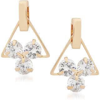 VK Jewels Triangular Gold Plated Alloy Drop Earring set for Women & Girls -ERZ1342G [VKERZ1342G]