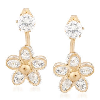 VK Jewels Flower Gold Plated Alloy Drop Earring set for Women & Girls -ERZ1343G [VKERZ1343G]