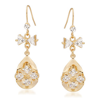 VK Jewels New Arrival  Gold Plated Alloy Drop Earring set for Women & Girls -ERZ1344G [VKERZ1344G]
