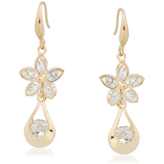 VK Jewels Charming Flower Gold Plated Alloy Drop Earring set for Women & Girls -ERZ1345G [VKERZ1345G]