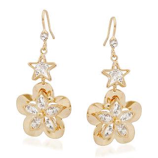 VK Jewels Shinning Star Gold Plated Alloy Drop Earring set for Women & Girls -ERZ1350G [VKERZ1350G]