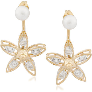 VK Jewels Petals Gold Plated Alloy Drop Earring set for Women & Girls -ERZ1351G [VKERZ1351G]