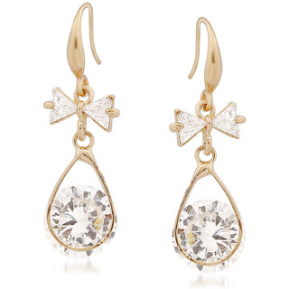 VK Jewels Gorgeous Gold Plated Alloy Drop Earring set for Women & Girls -ERZ1354G [VKERZ1354G]