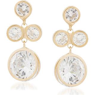 VK Jewels Shinning Stone Gold Plated Alloy Drop Earring set for Women & Girls -ERZ1355G [VKERZ1355G]