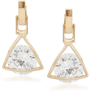VK Jewels Stone in Square Gold Plated Alloy Drop Earring set for Women & Girls -ERZ1356G [VKERZ1356G]