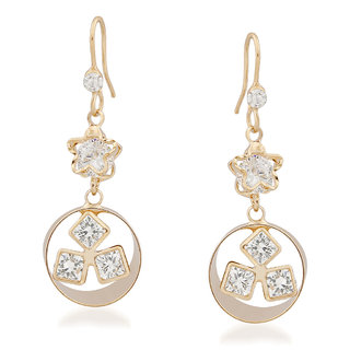 VK Jewels Tiny Stars Gold Plated Alloy Drop Earring set for Women & Girls -ERZ1358G [VKERZ1358G]