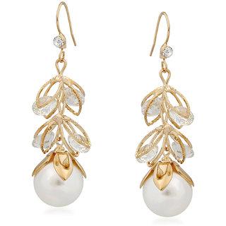 VK Jewels Pearl Drop Gold Plated Alloy Drop Earring set for Women & Girls -ERZ1360G [VKERZ1360G]
