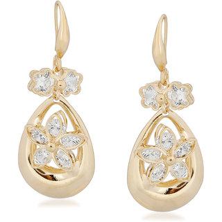 VK Jewels Flower Chandelier Gold Plated Alloy Drop Earring set for Women & Girls -ERZ1363G [VKERZ1363G]