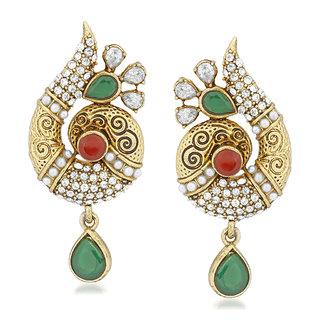 VK Jewels Flowery Snail Gold Plated Alloy Drop Earring set for Women & Girls -ERZ1387G [VKERZ1387G]