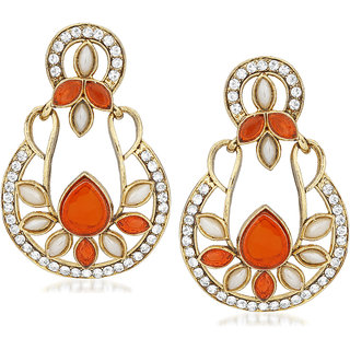 VK Jewels Statuesque Gold Plated Alloy Drop Earring set for Women & Girls -ERZ1399G [VKERZ1399G]
