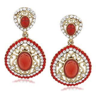 VK Jewels Pleasing Gold Plated Alloy Drop Earring set for Women & Girls -ERZ1403G [VKERZ1403G]