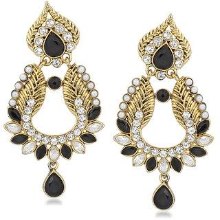 VK Jewels Multi Flower Petals Gold Plated Alloy Drop Earring set for Women & Girls -ERZ1406G [VKERZ1406G]