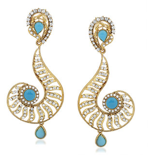 VK Jewels Question Mark Design Gold Plated Alloy Drop Earring set for Women & Girls -ERZ1408G [VKERZ1408G]