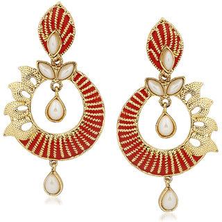 VK Jewels Pearl Drop Gold Plated Alloy Drop Earring set for Women & Girls -ERZ1411G [VKERZ1411G]