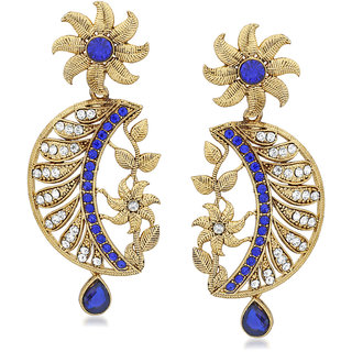 VK Jewels Leafy Gold Plated Alloy Drop Earring set for Women & Girls -ERZ1412G [VKERZ1412G]