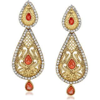 VK Jewels Delicate Gold Plated Alloy Drop Earring set for Women & Girls -ERZ1413G [VKERZ1413G]