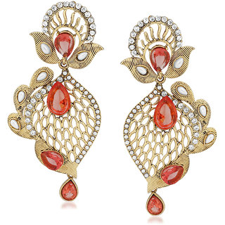VK Jewels Pleasing Gold Plated Alloy Drop Earring set for Women & Girls -ERZ1414G [VKERZ1414G]