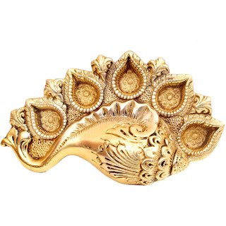 Creative Crafts Brass Deepak with shape of shank shape Home Decorative Handicraft Gift  Showpiece