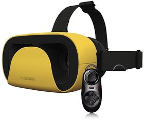 EgreenTech Latest Arrival VR XD Headset Virtual Reality 3D Glasses Google Cardboard With Mini Gamepad
