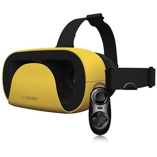 EgreenTech Latest Arrival VR XD Headset Virtual Reality 3D Glasses Google Cardboard With Mini Gamepad