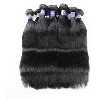 Brazilian Virgin Straight Hair - 10 Bundles - Natural Black(1B#)