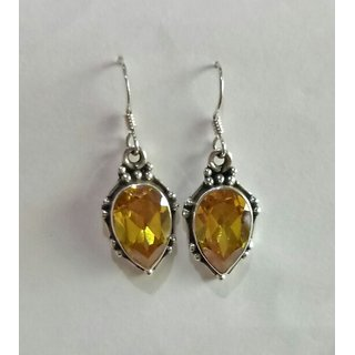 Silver Golden Topaz Earring