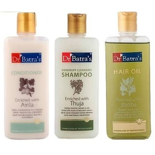Dr Batra's hair care kit (Hair Oil + shampoo + conditioner each 200ml)
