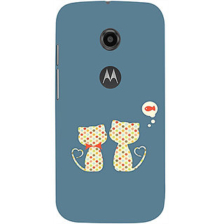 Casotec Fish On Mind Print Design 3D Printed Hard Back Case Cover for Motorola Moto E 2nd Generation