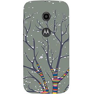 Casotec Winter Pattern Print Design 3D Printed Hard Back Case Cover for Motorola Moto E 2nd Generation
