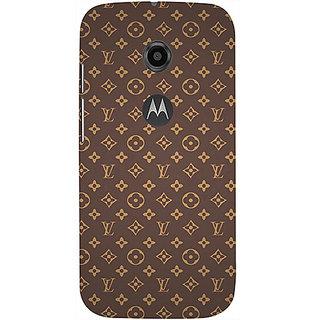 Casotec Vuitton Pattern Design 3D Printed Hard Back Case Cover for Motorola Moto E 2nd Generation