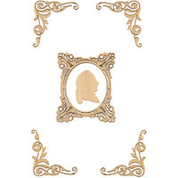 Magideal Wood Wooden Stickers For Scrapbooking Diy Craft Creative Gift Photo Frame