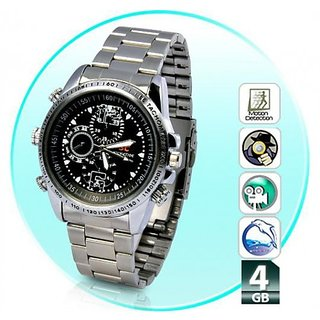 4 Gb Spy Hidden Wrist Watch Camera 4GB