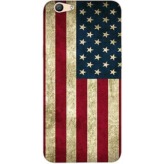 Casotec Vingate USA Flag Design 3D Printed Hard Back Case Cover for Oppo F1s
