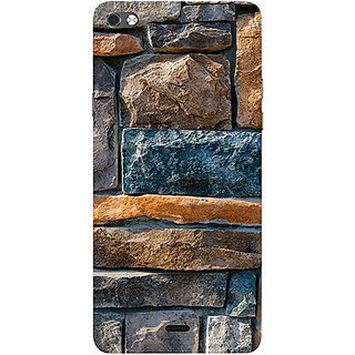 Casotec Decorative Stone Cladding Design 3D Printed Hard Back Case Cover for Micromax Canvas Sliver 5 Q450