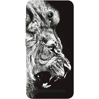 Casotec Angry Lion Design 3D Printed Hard Back Case Cover for Asus Zenfone Go ZC500TG