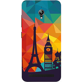 Casotec Colored Paris Design 3D Printed Hard Back Case Cover for Asus Zenfone Go ZC500TG