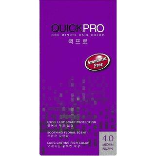 QUICKPRO 1 Minute Hair Color - Medium Brown 4.0