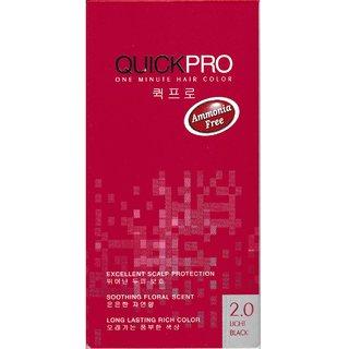 QUICKPRO 1 Minute Hair Color - Light Black 2.0