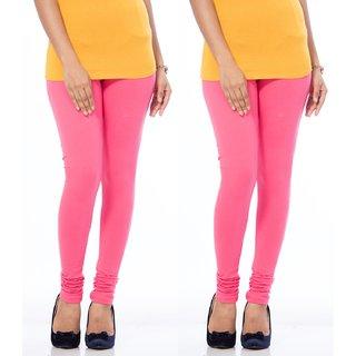 Ranjit Smart Women's Churidar Leggings (Blossom Pink) - Pack of 2