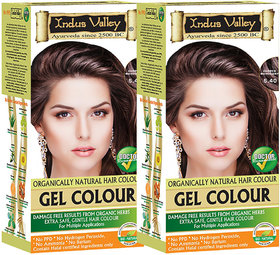 Indus Valley Organically Natural Gel Copper Mahogany 5.40 Hair Color- Pack of 2