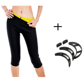 Gold Dust Body Slim Sweat Shapewear Pant + Bumpits Combo (M)