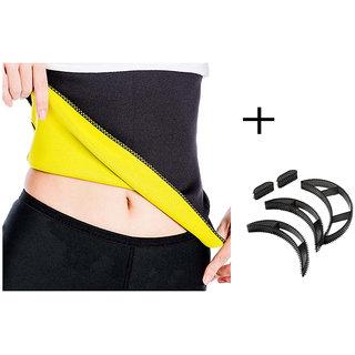 Gold Dust Body Slim Sweat Shapewear Belt + Bumpits Combo (M)